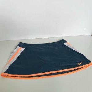 Nike Dri Fit Skort Blue White Orange Size XL